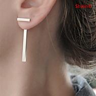 ieftine -Pentru femei Cercei Stud Cercei Față & Spate European stil minimalist cercei Bijuterii Auriu / Argintiu Pentru Zilnic Casual
