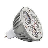 3 W 210-245 lm GU5.3(MR16) Żarówki punktowe LED MR16 3 Koraliki LED LED wysokiej mocy Dekoracyjna Ciepła biel / Zimna biel / RGB 12 V / 1 szt. / ROHS / Certyfikat CE / CCC