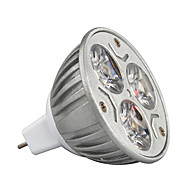 3W 210-245lm GU5.3(MR16) Spot LED MR16 3 Perles LED LED Haute Puissance Décorative Blanc Chaud / Blanc Froid / RVB 12V / 1 pièce / RoHs