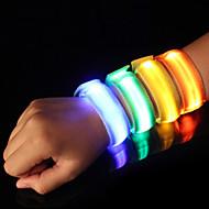LED браслет для бега Светоотражающая полоска Безопасность Высокая степень видимости Нейлон для Походы/туризм/спелеология Велосипедный