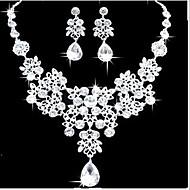 رخيصةأون -مجموعة مجوهرات Pear عبارة سيدات حفلة أنيق زفافي مكعبات زركونيا الأقراط مجوهرات أبيض من أجل زفاف حفلة تخرج / حفلة موسيقية / حفلة رقص 1SET / القلائد