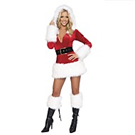 cheap -Extravagant Polyester Performance Sexy  Women's Christmas Costume(dress+belt)