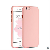 Кейс для Назначение Apple iPhone 6s Plus / iPhone 6s / iPhone 6 Plus Защита от удара Кейс на заднюю панель Однотонный Мягкий Силикон
