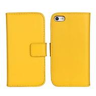 Etui Til Apple iPhone X / iPhone 8 Plus / iPhone 8 Pung / Kortholder / Med stativ Fuldt etui Ensfarvet Hårdt ægte læder