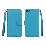 Etui Til Apple iPhone 8 Plus / iPhone 8 / iPhone 7 Plus Pung / Kortholder / Med vindue Fuldt etui Ensfarvet Hårdt PU Læder