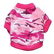 ieftine -Pisici Câine Tricou camuflaj Modă Îmbrăcăminte Câini Roz Verde Costume Material amestecat XS S M L