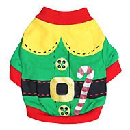 ieftine -Pisici Câine Costume Tricou Cosplay Modă Halloween Îmbrăcăminte Câini Respirabil Rosu Verde Costume Bumbac XXS XS S M L
