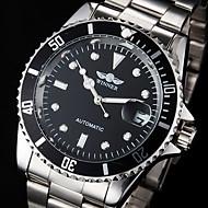ieftine -WINNER Bărbați Ceas La Modă Ceas Elegant Ceas de Mână Mecanism automat Supradimensionat Oțel inoxidabil Argint Rezistent la Apă Calendar Luminos Analog Lux Clasic Gunmetal Watch - Negru Alb Verde