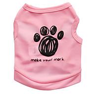 ieftine -Pisici Câine Tricou Floral / Botanic Modă Îmbrăcăminte Câini Negru Albastru Roz Costume Terilenă XS S M L