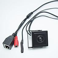 رخيصةأون -hd 1.0mp onvif h.264 p2p مراقبة الهاتف المحمول cctv ip كاميرا صغيرة 2.8mm الثقب عدسة الكاميرا اخف