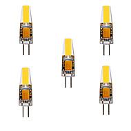 povoljno -ywxlight® 5pcs 5w 200-300lm g4 led bi-pin svjetla krekerska žarulja 360 svjetlosni snop svjetla za zamjenu 30w halogena g4 reflektor AC / DC12-24v
