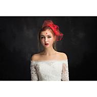 voordelige -tulle vlas kanten net tovenaars hoofddeksel klassieke vrouwelijke stijl