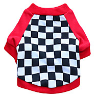 ieftine -Pisici Câine Tricou Geometic Modă Îmbrăcăminte Câini Respirabil Negru Rosu Costume Bumbac XS S M L