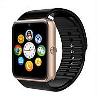 tanie -Męskie Inteligentny zegarek Cyfrowy Guma Czarny Ekran dotykowy Alarm Kalendarz / data / dzień Cyfrowy Luksusowy - Złoty Czarny Srebrny / Pilot zdalnego sterowania / Krokomierze / Opaski fitness
