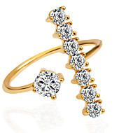 رخيصةأون -نسائي خاتم البيان فضي ذهبي الذهب-وردي سبيكة موضة زفاف مناسب للحفلات مجوهرات