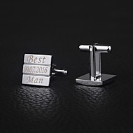 cheap -Zinc Alloy Cufflinks & Tie Clips Groom Groomsman Wedding Anniversary Birthday