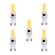 povoljno -YWXLIGHT® 5pcs 5 W LED svjetla s dvije iglice 400-500 lm G9 T 1 LED zrnca COB Zatamnjen Ukrasno Toplo bijelo Hladno bijelo 220-240 V 110-130 V / 5 kom. / RoHs