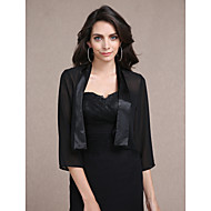 cheap -Long Sleeve Chiffon Party Evening / Casual Wedding  Wraps With Coats / Jackets