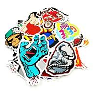 povoljno -100 kom / pack slučajan glazbeni film vinilni skateboard gitara travel case naljepnica car decal cute stickers