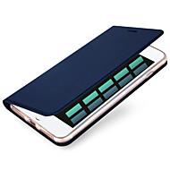 voordelige -hoesje Voor Apple iPhone X / iPhone 8 Plus / iPhone 8 Kaarthouder Volledig hoesje Effen Hard PU-nahka