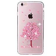 voordelige -hoesje Voor iPhone 7 / iPhone 7 Plus / Apple iPhone 7 Plus / iPhone 7 Strass / Transparant / Patroon Achterkant Boom Zacht TPU
