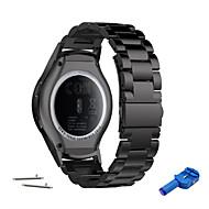 Horlogeband voor Gear S3 Frontier / Gear S3 Classic Samsung Galaxy Sportband Metaal / Roestvrij staal Polsband
