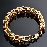 Heren Armbanden met ketting en sluiting Gedraaid Box Chain Mariner Chain Sierlijk Modieus Hip Hop 18 Karaats Verguld Armband sieraden Zwart / Goud / Zilver Voor Kerstcadeaus Speciale gelegenheden