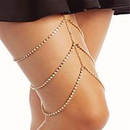 ieftine -Lănțișor Picior femei Modă Pentru femei Bijuterii de corp Pentru Petrecere Ocazie specială stivuibil Zirconiu Cubic Ștras Auriu Argintiu