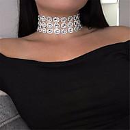 ieftine -Pentru femei Coliere Choker Șuviță unică femei Personalizat stil minimalist Modă Teracotă Alb Coliere Bijuterii Pentru Petrecere Ocazie specială Zilnic Casual În aer liber
