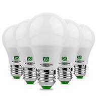 povoljno -ywxlight® 5pcs e27 / e26 5730smd 5watts 10led toplo bijelo bijelo bijelo bijelo vođeno ne treperi visoka svjetlina vodio žarulju 12v 12-24v