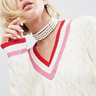 ieftine -Pentru femei Obsidian Coliere Choker femei Personalizat Euramerican Imitație de Perle Alb Coliere Bijuterii Pentru Petrecere Ocazie specială Zilnic Casual