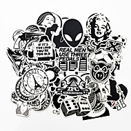 povoljno -ziqiao 100 komada crne i bijele hladno diy naljepnice za auto skateboard laptop prtljaga snowboard frižider telefon igračka styling home dekor naljepnice