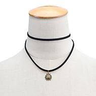 ieftine -Pentru femei Coliere Choker Coliere cu Pandativ Soare femei Personalizat Stil Atârnat stil minimalist Material Textil Aliaj Negru Coliere Bijuterii Pentru Zilnic Casual / Pandative