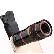 Universal HD 8x justerbar fokus optisk teleskop mobiltelefon kamera objektiv med klip egnet til iPhone og Android-telefoner