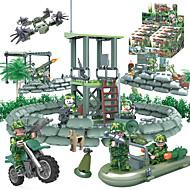 GUDI Blocs de Construction Blocs Militaires Petites Figurines à Construire 318 pcs Soldat / Guerrier Militaire Tank Chasseur Camouflage A Faire Soi-Même Unisexe Garçon Fille Jouet Cadeau