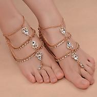 ieftine -Sandale Desculț picioare bijuterii femei Modă Pentru femei Bijuterii de corp Pentru Zilnic Ρούχα για Ύπαιθρο Fier (placat cu nichel) Ștras Aliaj Picătură Auriu Argintiu 1 buc