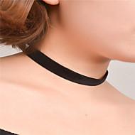 ieftine -Pentru femei Coliere Choker Șuviță unică Personalizat De Bază stil minimalist Modă Material Textil Negru Coliere Bijuterii Pentru Zilnic Casual