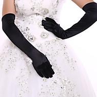 رخيصةأون -سباندكس طوع الأوبرا قفاز قفازات العروس / قفازات الحفلات السهرات مع حجر كريم