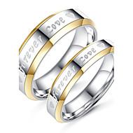 رخيصةأون -الزوجين خواتم الزوجين تيتانيوم تيتانيوم معدني Circle Shape أسلوب بسيط موضة أنيق زفاف خطوبة مجوهرات / مناسب للبس اليومي
