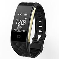 tanie -s2 inteligentny zegarek bt 4.0 fitness tracker wsparcie powiadomić wodoodporny zakrzywiony ekran sportowy opaska na samsung / sony android telefony i iphone