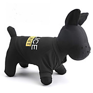 ieftine -Pisici Câine Tricou Polițist / Militar Literă & Număr Îmbrăcăminte Câini Negru Costume Terilenă XS S M L XL XXL