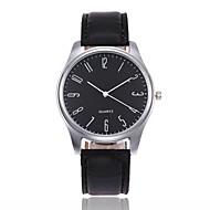 Муж. Наручные часы Кварцевый На каждый день Кожа Черный / Коричневый Аналоговый - Белый / Бежевый Черный Черный / коричневый