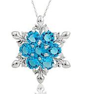 Kadın's Sentetik safir Geometrik Uçlu Kolyeler - Klasik, Moda Koyu Mavi, Açık Mavi Kolyeler Mücevher Uyumluluk Noel, Gece Partisi