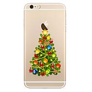 Кейс для Назначение Apple iPhone X / iPhone 8 Прозрачный / С узором Кейс на заднюю панель Рождество Мягкий ТПУ для iPhone X / iPhone 8 Pluss / iPhone 8