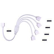 رخيصةأون -1PC hkv® بقيادة مصباح الفرقة موصل rgb الملونة مصباح قطاع تحكم 1 إلى 4 موصل خط