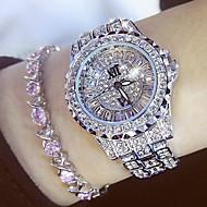 Dames Luxueuze horloges Diamond Watch Japans Kwarts Roestvrij staal Zilver / Goud 30 m Vrijetijdshorloge Analoog Amulet Modieus Bling bling - Goud Zilver