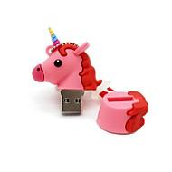 رخيصةأون -8 جيجابايت أوسب 2.0 الكرتون يونيكورن الحصان أوسب فلاش حملة القرص لطيف ذاكرة القلم حملة القلم هدية القلم محرك