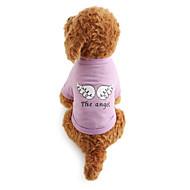 ieftine -Câine Tricou Literă & Număr Îmbrăcăminte Câini Respirabil Costume Bumbac XS S M L