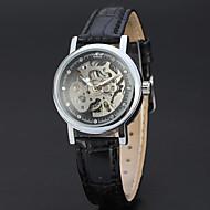 ieftine -WINNER Pentru femei Ceas Schelet Ceas de Mână Mecanism automat Piele Negru 30 m Gravură scobită Analog femei Vintage Casual Modă Elegant - Alb / Auriu Roz auriu / Argintiu Aur / argint / negru