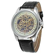 ieftine -WINNER Bărbați Ceas Schelet Ceas de Mână Mecanism automat Oțel inoxidabil Argint 30 m Gravură scobită Analog Vintage Casual Modă - Argintiu / negru Auriu / Negru Alb / Auriu